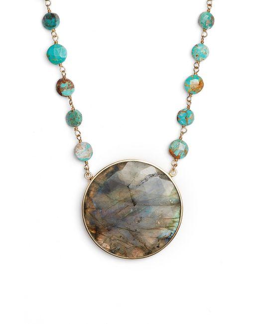 Ela Rae - Multicolor Morah Semiprecious Stone Necklace - Lyst