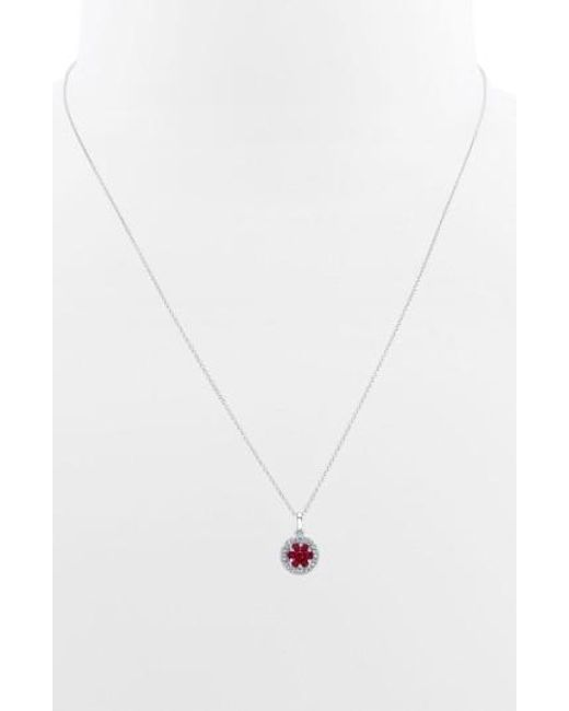 Bony Levy | Metallic Flower Button Diamond & Gemstone Pendant Necklace (nordstrom Exclusive) | Lyst