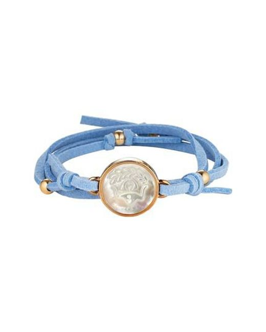 Asha | Blue Zodiac Suede Wrap Bracelet | Lyst