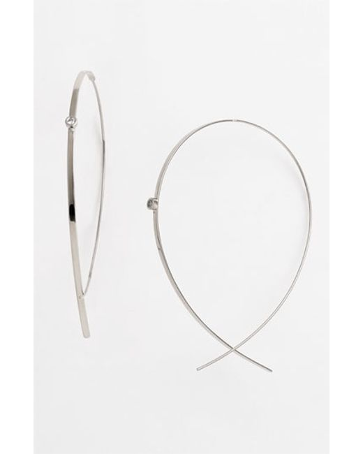 Lana Jewelry | White 'flat Upside Down' Diamond Hoop Earrings | Lyst