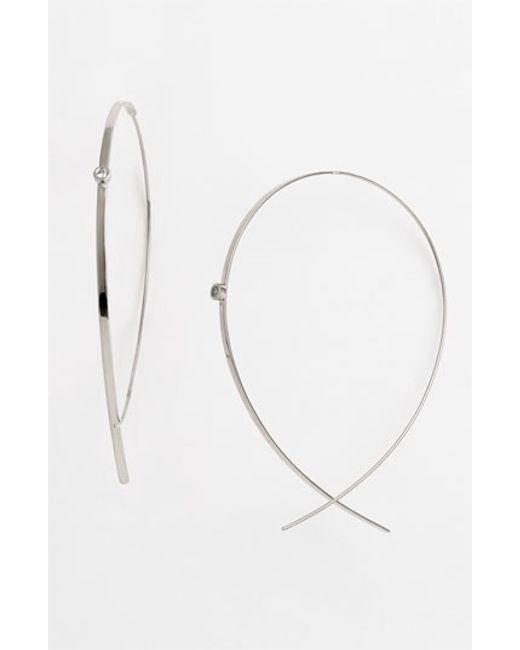 Lana Jewelry | Metallic 'flat Upside Down' Diamond Hoop Earrings | Lyst