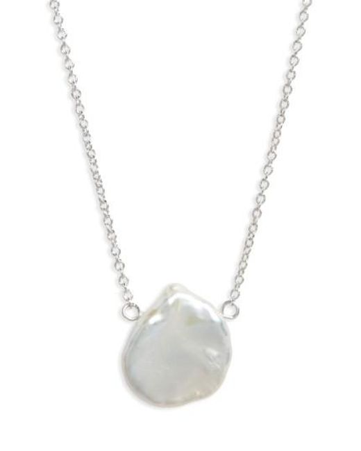 Dogeared | Metallic Reminder - One In A Million Keshi Pearl Pendant Necklace | Lyst