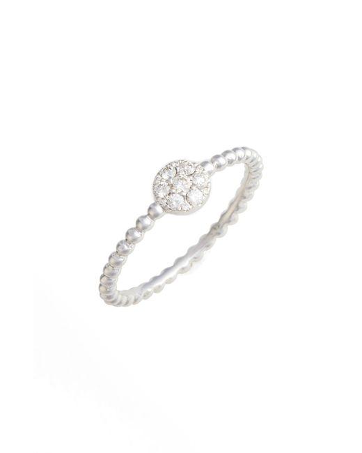 Bony Levy Metallic Mika Round Halo Diamond Ring (nordstrom Exclusive)