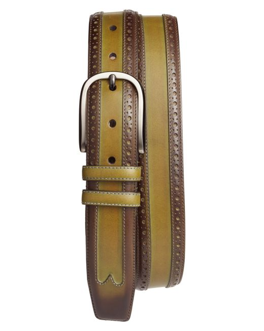 Mezlan - Green Leather Belt for Men - Lyst