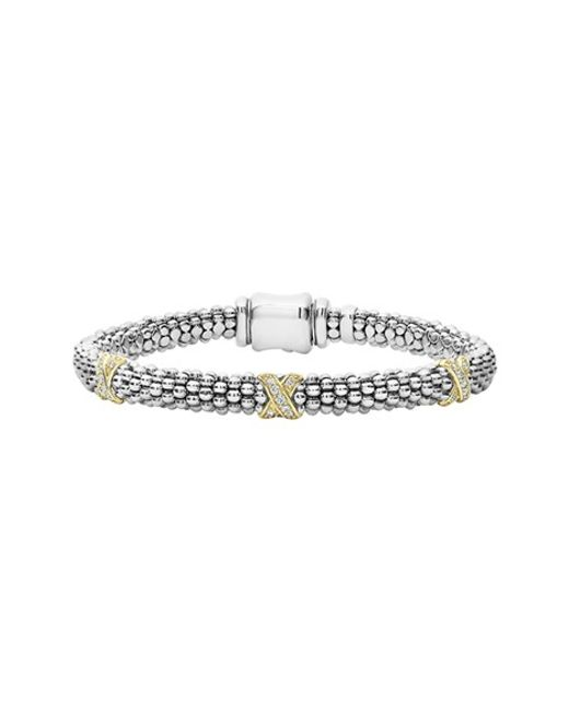Lagos | Metallic 'signature Caviar' Diamond Rope Bracelet | Lyst