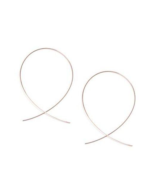 Lana Jewelry   Pink 'large Upside Down' Hoop Earrings   Lyst