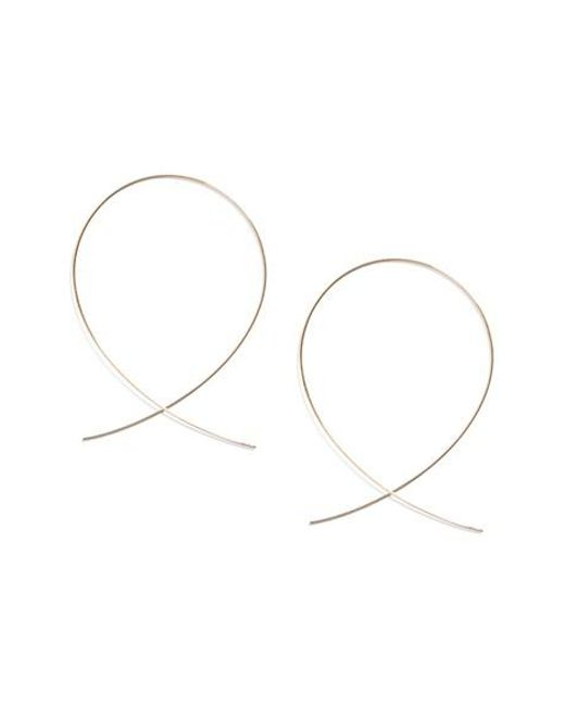 Lana Jewelry | Metallic 'large Upside Down' Hoop Earrings | Lyst