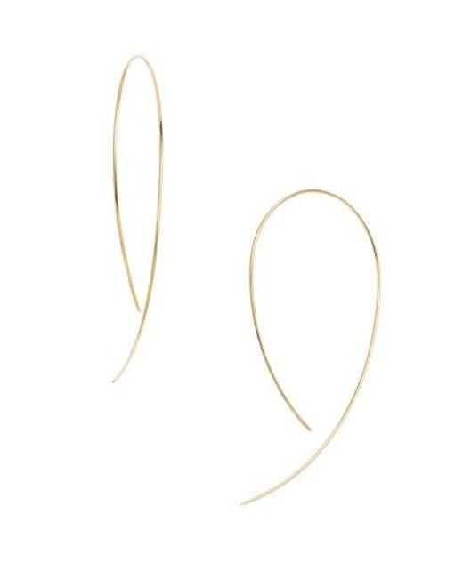 Lana Jewelry | Metallic 'hooked On Hoop' Earrings | Lyst