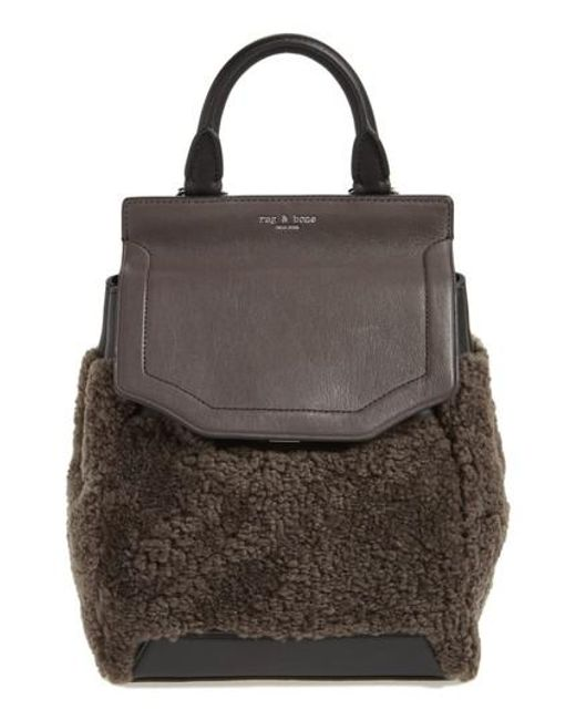 Rag & Bone | Brown Small Pilot Leather & Genuine Shearling Backpack | Lyst