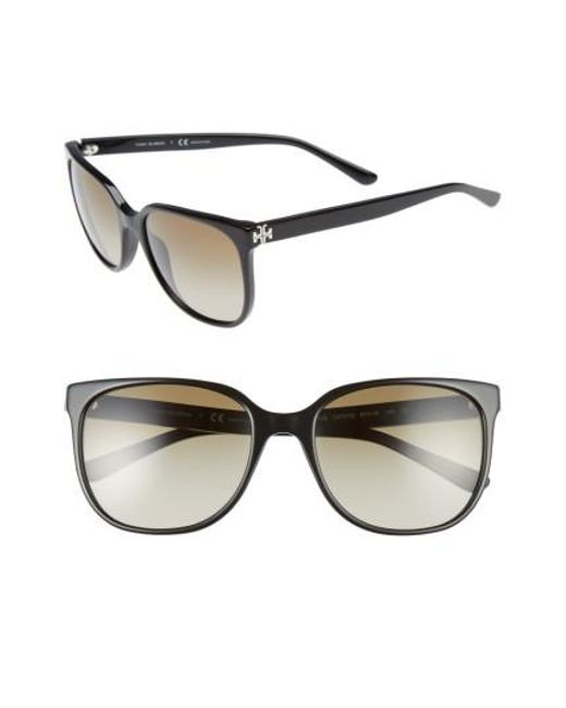 Tory Burch | Black 57mm Gradient Sunglasses | Lyst