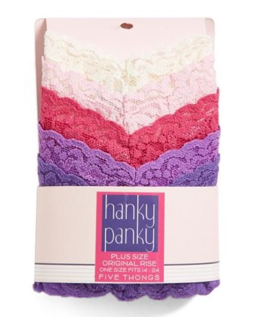 Hanky Panky | Pink Thong | Lyst