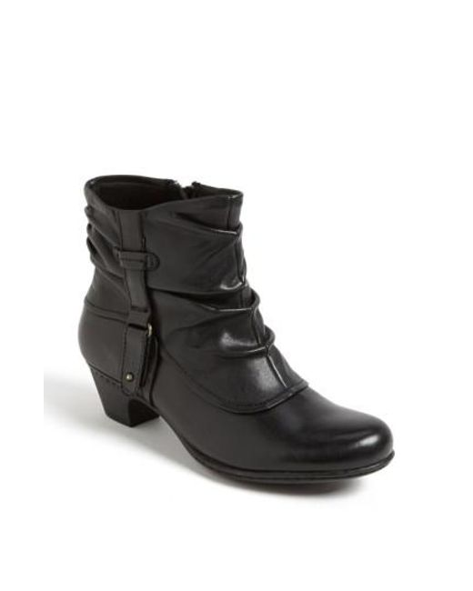 Cobb Hill | Black Alexandra Leather Ankle Boots | Lyst