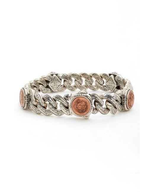 Konstantino   Metallic 'aeolus' Coin Link Bracelet   Lyst