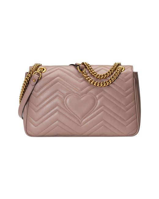 a4305524533 ... Gucci - Pink GG Marmont Medium Matelassé Shoulder Bag - Lyst