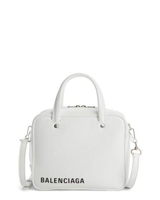 Balenciaga - White Extra Small Triangle Square Aj Bag - - Lyst