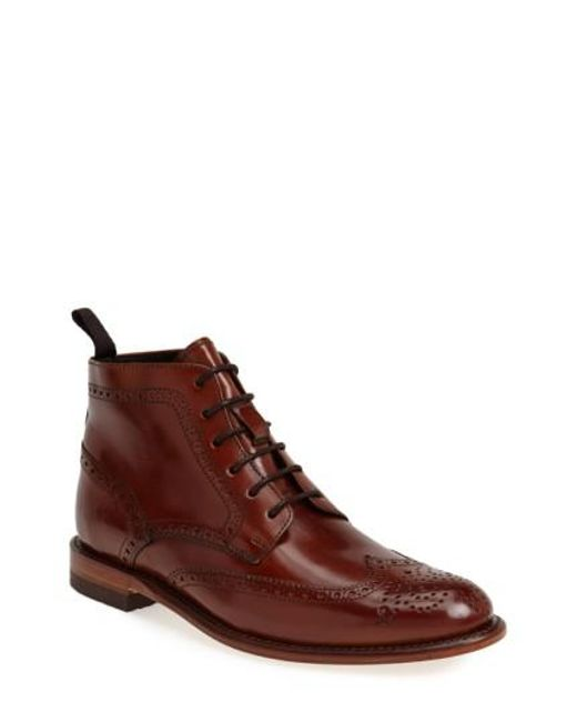 Sendra | Brown 'newport' Wingtip Boot for Men | Lyst