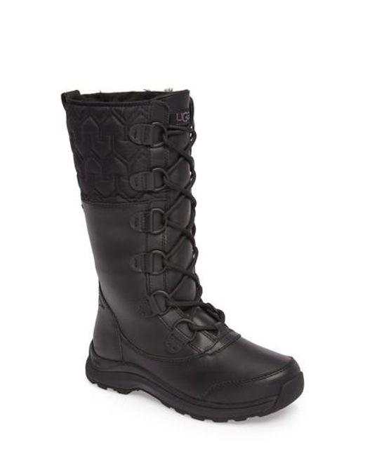 Ugg   Black Ugg Atlason Waterproof Boot   Lyst