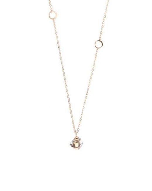 Lyst melissa joy manning herkimer pendant necklace in metallic melissa joy manning metallic herkimer pendant necklace lyst aloadofball Image collections
