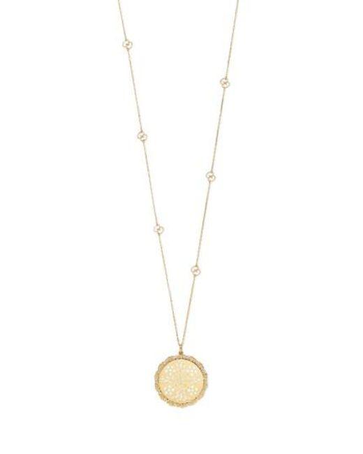 Gucci | Metallic Icon Charm Pendant Necklace | Lyst
