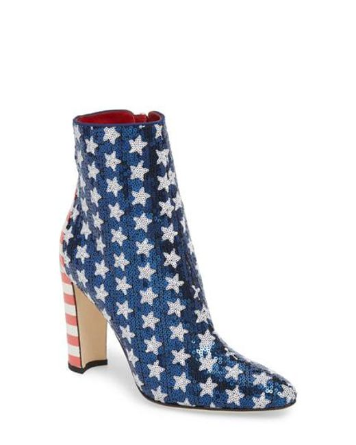 Manolo Blahnik Women's Nancy Americana Sequin Bootie