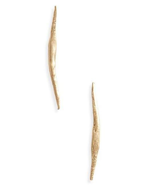 Wwake - Metallic Stick Wisp Earrings - Lyst