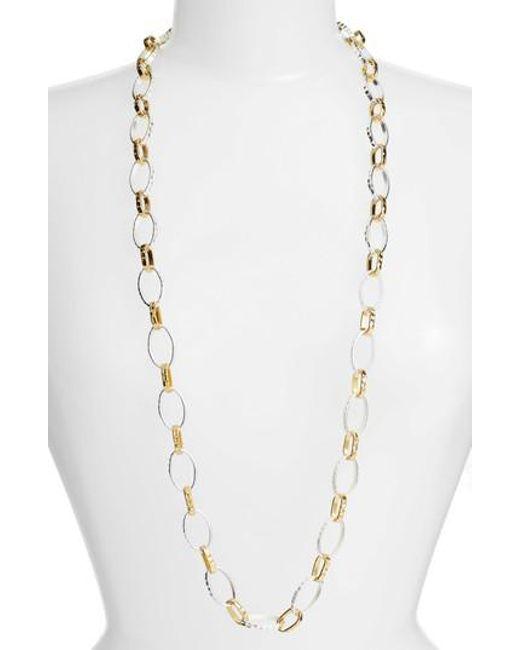 Karine Sultan | Metallic Long Link Necklace | Lyst