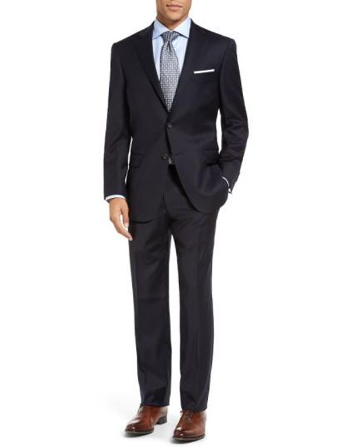Hart Schaffner Marx | Blue New York Classic Fit Solid Wool Suit for Men | Lyst