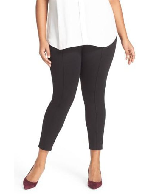 Sejour | Black Seam Detail Crop Ponte Leggings | Lyst