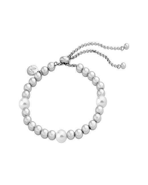 Majorica - Metallic Simulated Pearl & Bead Bracelet - Lyst