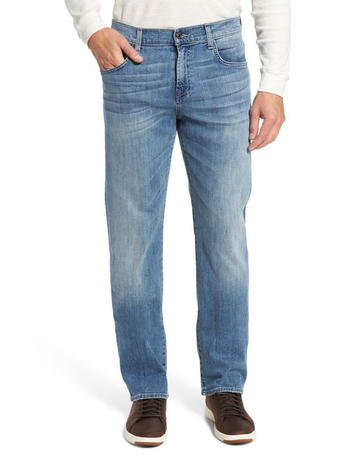 7 For All Mankind - Blue 7 For All Mankind Carsen Straight Leg Jeans for Men - Lyst