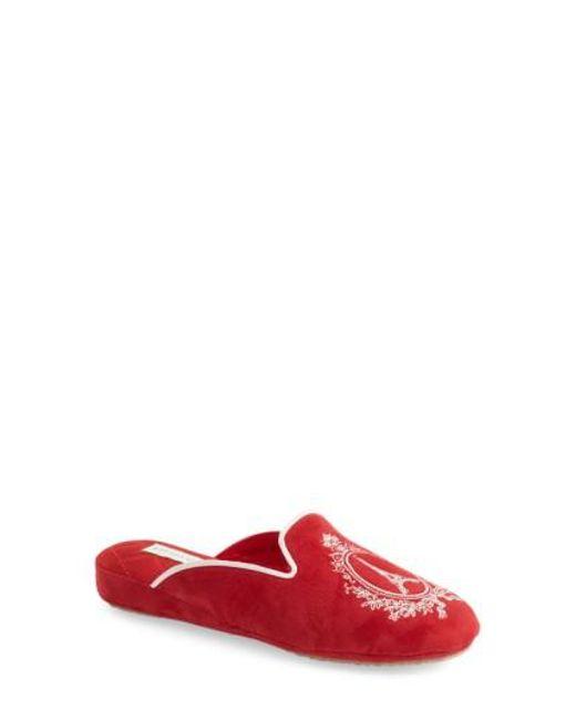 Patricia Green | Red 'paris' Slipper | Lyst