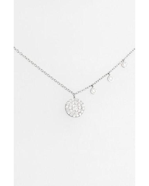 Meira T | Metallic Meirat 'dazzling' Diamond Disc Pendant Necklace | Lyst