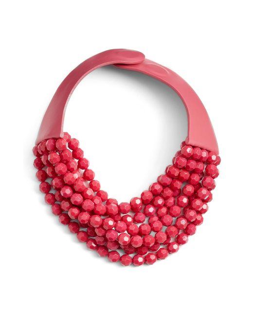 Fairchild Baldwin - Red Bella Beaded Collar Necklace - Lyst