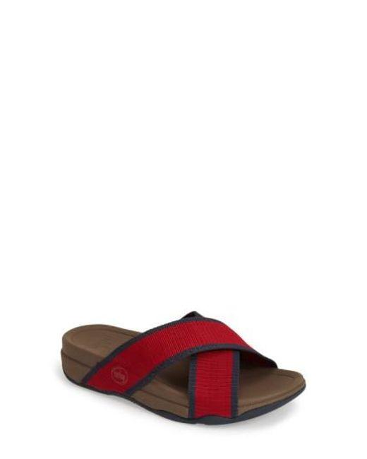 Fitflop | Red (tm) 'surfer' Slide Sandal for Men | Lyst