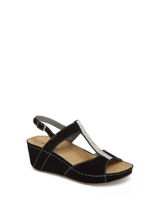 David Tate Leather Wedge Sandals - Bubbly cheap sale supply QJT1b4