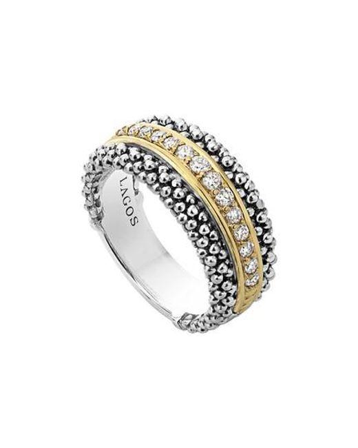 Lagos   Metallic Diamonds & Caviar Ring   Lyst