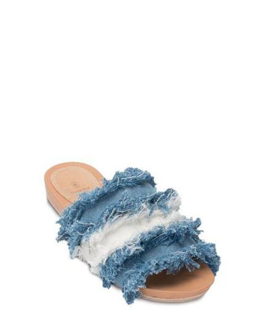 Bill Blass Megan Mixed Denim Sandals p0C4uomI1X