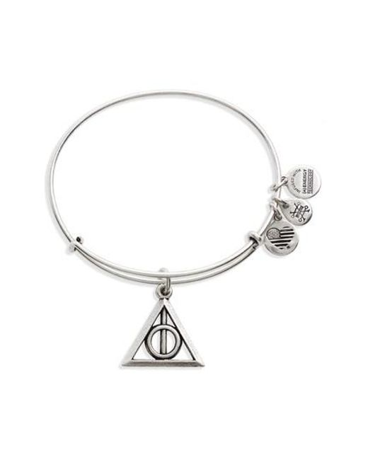 ALEX AND ANI | Metallic Deathly Hallows(tm) Adjustable Wire Bangle | Lyst
