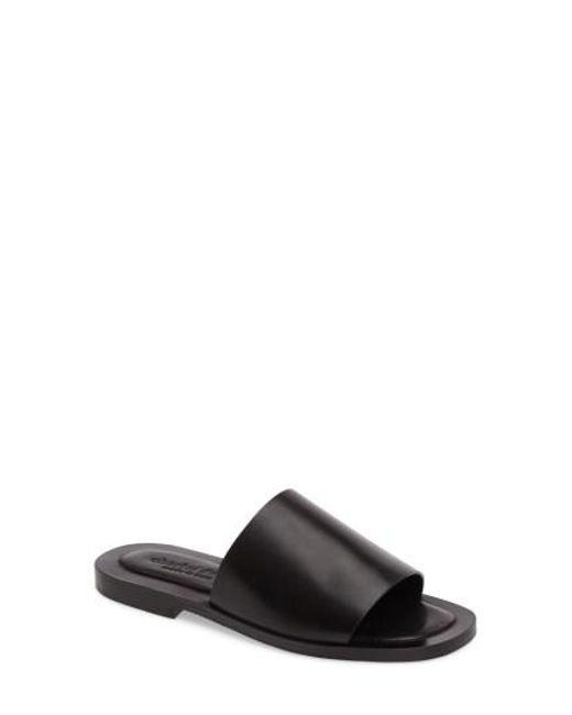 Charles David - Black Casey Flat Slide Sandal - Lyst