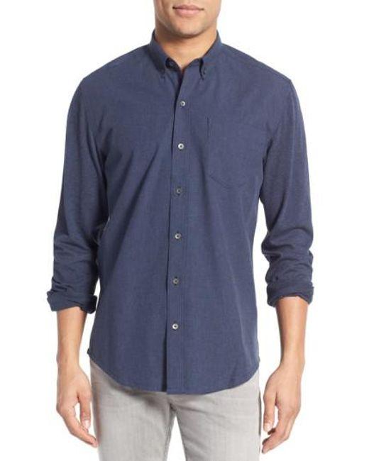 W.r.k. | Blue 'reworked' Trim Fit Sport Shirt for Men | Lyst