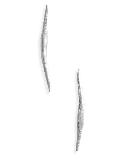 Wwake | Metallic Stick Wisp Earrings | Lyst