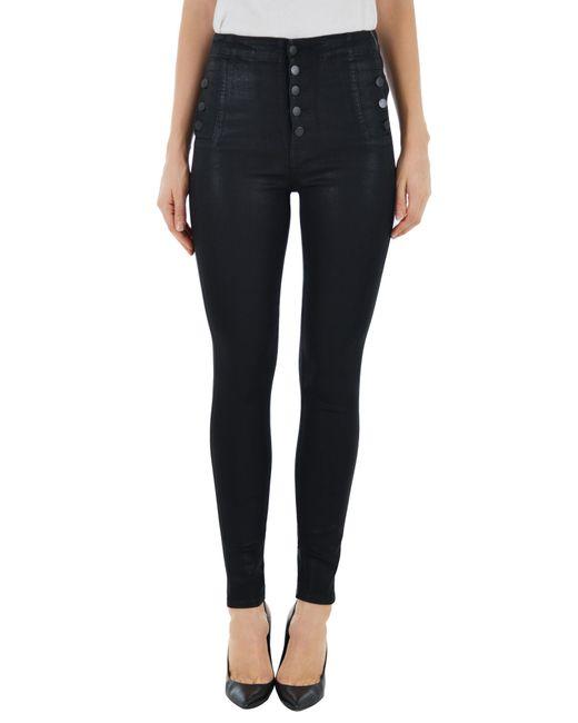 J Brand - Black Natasha Sky High Skinny Jeans - Lyst
