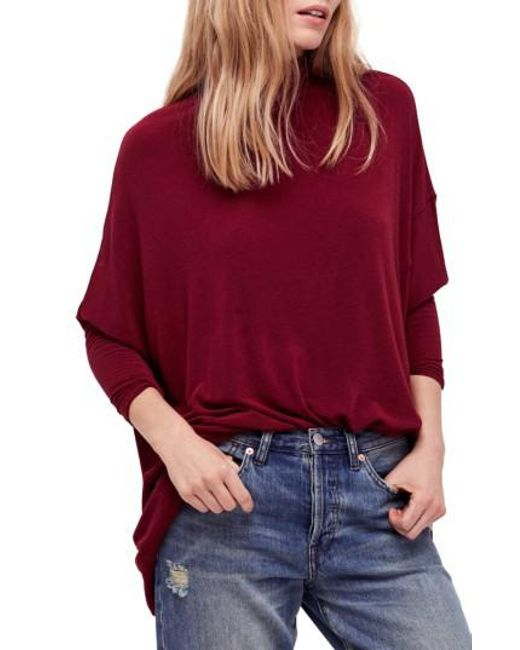 Free People | Red We The Free Terry Turtleneck | Lyst