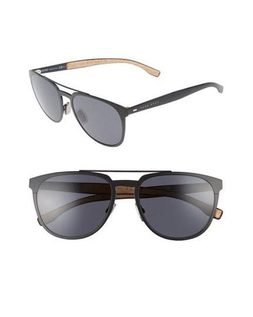 BOSS - Gray 57mm Navigator Sunglasses - for Men - Lyst