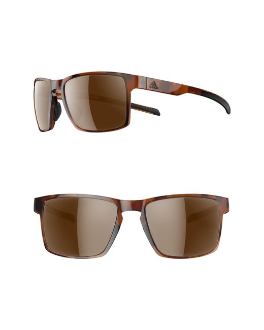 f2268e9120 Lyst - adidas Wayfinder 56mm Sport Sunglasses in Brown