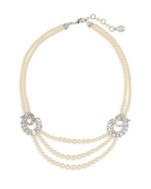 Ben-Amun - Metallic Faux Pearl Multistrand Necklace - Lyst