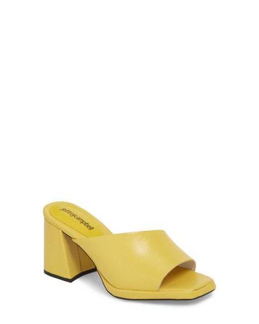 Jeffrey Campbell - Yellow Suzuci Sandal - Lyst