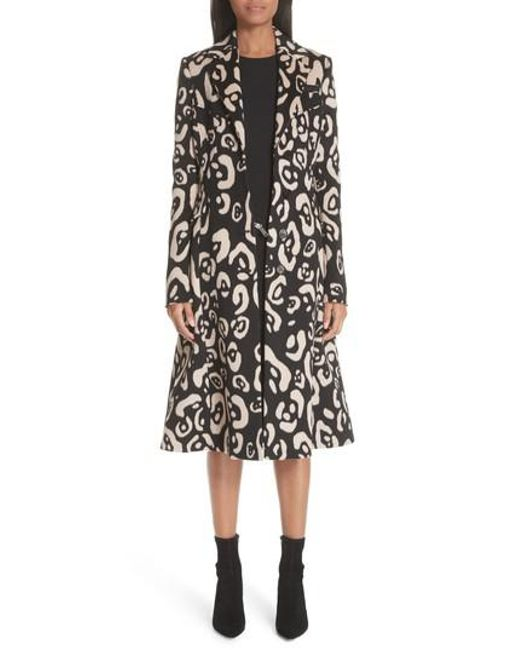 Altuzarra - Black Driss Leopard Print Wool Blend Coat - Lyst