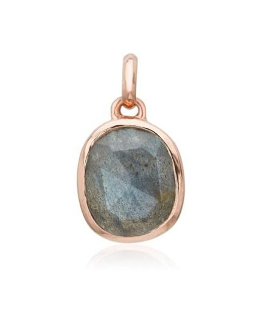 Monica Vinader - Metallic Siren Semiprecious Stone Pendant - Lyst