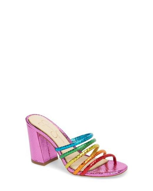 Fixton Block Heel Strappy Slide Sandals yq7tgDQh
